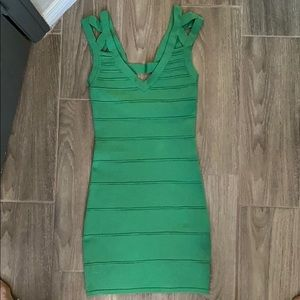 Hot Miami styles green bandage dress